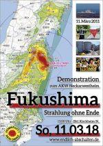 Weiterlesen: Demo zum 7. Fukushima-Jahrestag So. 11.3.18: